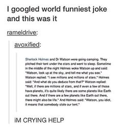 HERE'S A FUNNY SHERLOCK JOKE FOR YOU