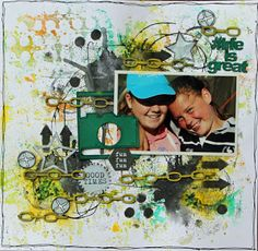 A2Z Scraplets: life is great #chipboard #scrapbooking #layout #a2zscraplets www.a2zscraplets.com.au