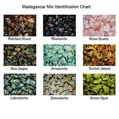 KeavensCrystal&Rock Worldwide Mix, 50+ Stone Types from Asia, South America, Madagascar Bulk Rough used for Reiki Healing, Tumbling, Cabbing, Cutting, Polishing, Landscaping. (1lb): Amazon.ca: Home & Kitchen