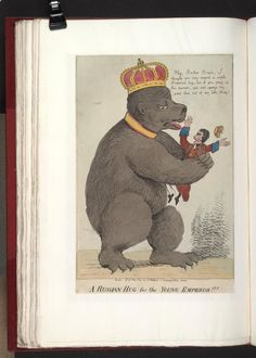 05,1804.A Russian hug for the young emperor!!!Bodleian Libraries, Caricature of Napoleon I. (British political cartoon)