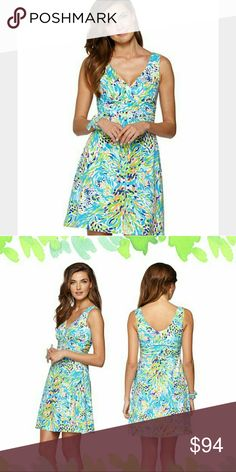 """LILLY PULITZER SEA SOIREE SHIANNE DRESS SLOANE LG LILLY PULITZER """"SEA SOIREE"""" PRINT SHIANNE DRESS (SHORT SLOANE.)   SIZE: LARGE  92% Cotton & 8% Spandex  EUC: Excellent Preloved Condition!  I only wore it 3 times. Gently Laundered!  No Smoking, Buy It Now, Bundle Discounts Available, Reasonable Discounts Available, Sorry NO Trades!!  HAPPY SHOPPING=) Lilly Pulitzer Dresses Mini"""