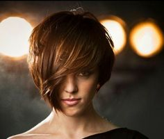 Short on 1 side..longer on the other #short #hairstyle