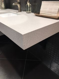 Arizona Tile Wave Ivory is a blend of nature and technology, combining beauty and functionality in a high performance surface. Bathroom Countertops, Quartz Countertops, Quartz Slab, Clinic, Commercial, Ford, Waves, Texture, Beautiful
