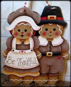 Gingerbread Pilgrims Painting E-Pattern par GingerbreadCuties