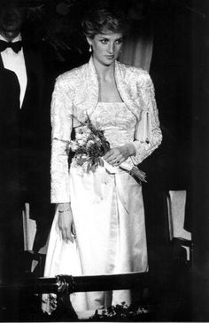"""February 2, 1989: Princess Diana at the Brooklyn Academy of Music to see the Welsh National Opera Gala production of """"Falstaff""""."""
