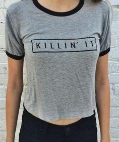 Brandy Melville Carolina Killin' It Top