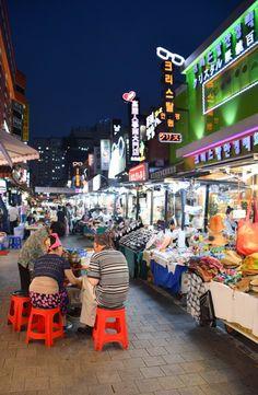 Seoul-Mates in South Korea: Jeju Island to the DMZ Namdaemun Night Market - Seoul, South Korea South Korea Seoul, South Korea Travel, North Korea, Asia Travel, South Korea Photography, City Photography, Korea Tourist Attractions, Jeju Island, Korean Wave