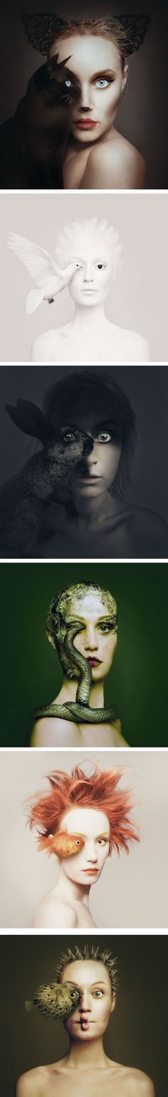 Artist Becomes One With Animals By Replacing Her Eye With Theirs (By Photographer Flóra Borsi)