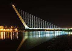 Santiago Calatrava Bridge Spain #SantiagoCalatravaArchitecture Pinned by www.modlar.com