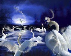 fantasy swans - Fantasy Wallpaper ID 1503394 - Desktop Nexus Abstract