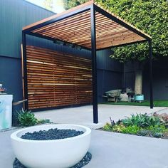 A pergola gives a secluded region and shade in the summertime. A pergola is something which will fall in that category. Then pergola is a superb choice. There's nothing quite like a gorgeous, modern-day pergola in order to add value… Continue Reading → Pergola Patio, Pergola Swing, Wooden Pergola, Pergola Shade, Backyard Patio, Backyard Landscaping, Pergola Ideas, Pergola Canopy, Landscaping Ideas