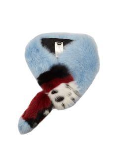 Contrasting fox-fur scarf | Fendi | MATCHESFASHION.COM UK