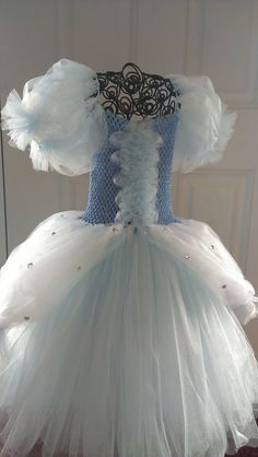 Cinderella Tutu Dress Detailed plus sleeves by AddiBabyBoutique Cinderella Tutu Dress, Princess Tutu Dresses, Cinderella Theme, Cinderella Carriage, Tulle Tutu, Tulle Dress, Dress Up, Tulle Skirts, Nice Dresses
