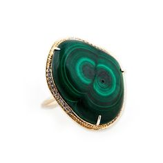 FREEFORM MALACHITE RING  Wow. Amazing stone