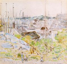The Harbor of a Thousand Masts, Gloucester - Childe Hassam