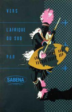 Vers l'Afrique du Sud par Sabena - 1955 -