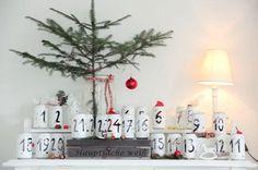 21. November: Adventskalender mit Teelicht - aus alten Dosen - BRIGITTE