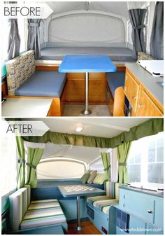 Pop Up Camper Remodel: Todd's Pop Up Makeover.  Another awesome pop up camper makeover over at The Pop Up Princess.