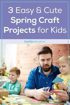 Celebrate the coming of spring (hooray!) with your little ones with these sweet and simple spring crafts for kids! Spring Crafts For Kids, Craft Projects For Kids, Diy Projects, Educational Activities, Activities For Kids, Spring Activities, Little Ones, Diy Crafts, Entertaining