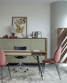 Home Office, Office Desk, Bookcase Shelves, Office Accessories, Working Area, Interior Design Living Room, Corner Desk, Rustic, Modern