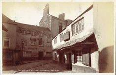 GEORGE AND DRAGON INN   St Ives, Cornwall: Demolished in 1887 ✫ღ⊰n Old Pictures, Old Photos, Vintage Photographs, Vintage Photos, St Ives Cornwall, Cornish Coast, Historical Images, Past, Coastal