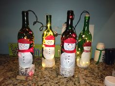My Christmas project - now I have something to do with all the empty bottles