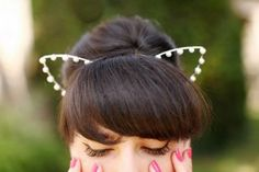 Imagem de cat ears, girl, and headband