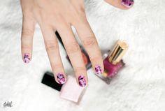 Pink Destroy nail art