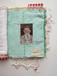 stitch therapy: articles of identity: Fabric Journals, Art Journals, Art Brut, Textiles, Sewing Art, Handmade Books, Bookbinding, Embroidery Art, Art Sketchbook