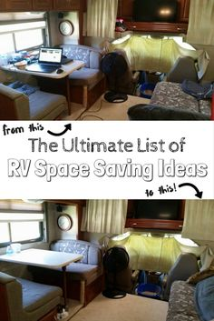 The ultimate list of RV space saving ideas! Almost 100 RV storage ideas, with pictures and links!