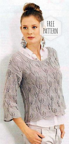 b4ef709415c Pullover Knitwear Free Pattern Lace Knitting Patterns