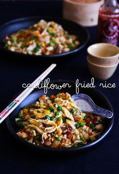 Not Quite Nigella's Cauliflower Fried 'Rice': a low carb, rice-less version of a family favourite