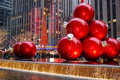 Last Trending Get all images nyc christmas decorations Viral dsc jpg Large Christmas Ornaments, Christmas Cover, Red Ornaments, Christmas Decorations For The Home, Christmas Pillow, Christmas Is Coming, Christmas Holidays, Christmas Bulbs, Merry Christmas