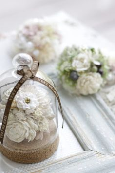 20180402151758 Glass Domes, Flower Arrangements, Floral Design, Shabby, Mini, Flowers, Christmas, Gifts, Beautiful