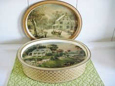 Currier and Ives American Homestead Tin Box by CrystalCoaster