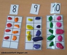 EI D' EDUCACIÓ INFANTIL: JOCS MATEMÀTICS: NUMERACIÓ I CÀLCUL Math Games, Math Activities, Preschool Math, Kindergarten, Dyscalculia, Ten Frames, Crafts For Boys, Math For Kids, Numeracy