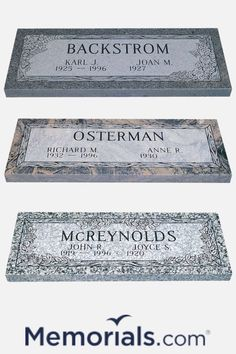 Losing a loved one is difficult. If you're looking for ideas for a grave marker or monument for the cemetery memorials . com has you covered.