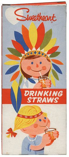 sweetheart drinking straws that went with drinks long ago...