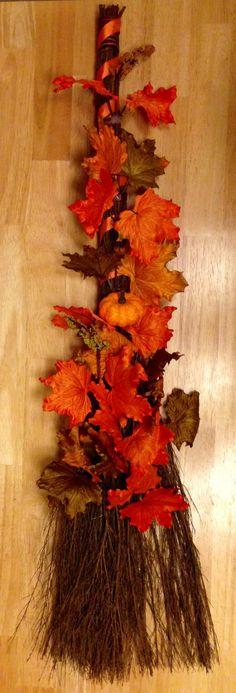 Decorative Autumn Cinnamon Scented Broom by HeatherAnnsCreations, $15.00