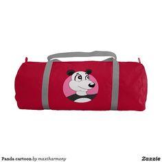 Panda cartoon gym duffel bag