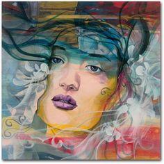 Trademark Fine Art Mirada Lejana Canvas Art by Andrea, Size: 18 x 18, Multicolor