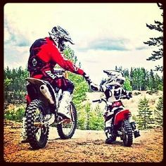 portrait dad and kid on motorcycle on a trail - Google Search