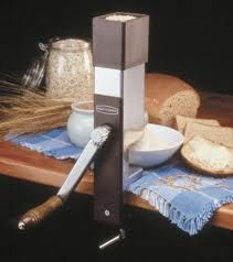 The Back-to-Basics grain mill. A much more affordable alternative.