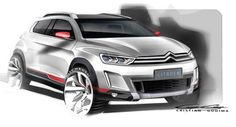 Citroen Shows Off Official Teaser of New Small SUV Concept for Beijing Auto Show