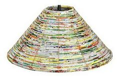ReStyle ReUse ReDesign: April 2010  Paper Bead Lampshade