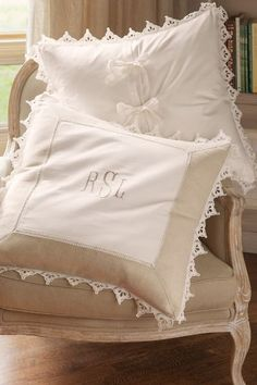 Our Festonne Euro Sham adds a lovely feminine touch - and the neutral colors will blend well with any bedding ensemble.