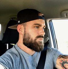 Beard And Mustache Styles, Beard Styles For Men, Beard No Mustache, Hair And Beard Styles, Curly Hair Styles, Hairy Men, Bearded Men, Bearded Tattooed Men, Men Beard