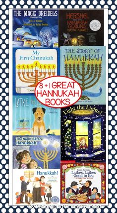 8 (+1) Great Hannukah Books for Children - check them out at my blog post!