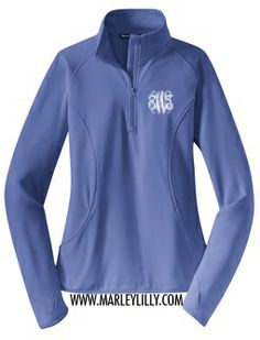 Monogrammed Dry Sport Pullover | Personalized Gym Wear | Marley Lilly