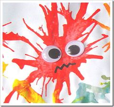 "Blow painting monsters - maybe for ""Where the Wild Things Are"""
